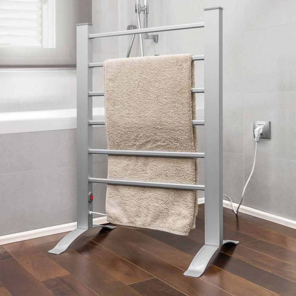 Šedý elektrický žebřík na ručníky InnovaGoods Towel Rail