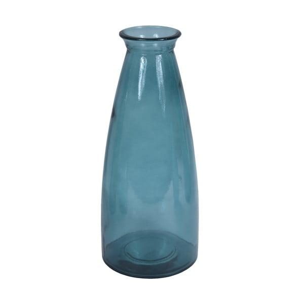 Florero kék újrahasznosított üveg váza, magasság 40 cm - Ego Dekor