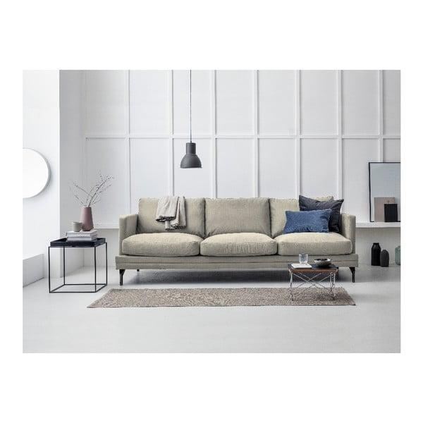 Béžová trojmístná pohovka s podnožím v černé barvě Windsor & Co Sofas Jupiter