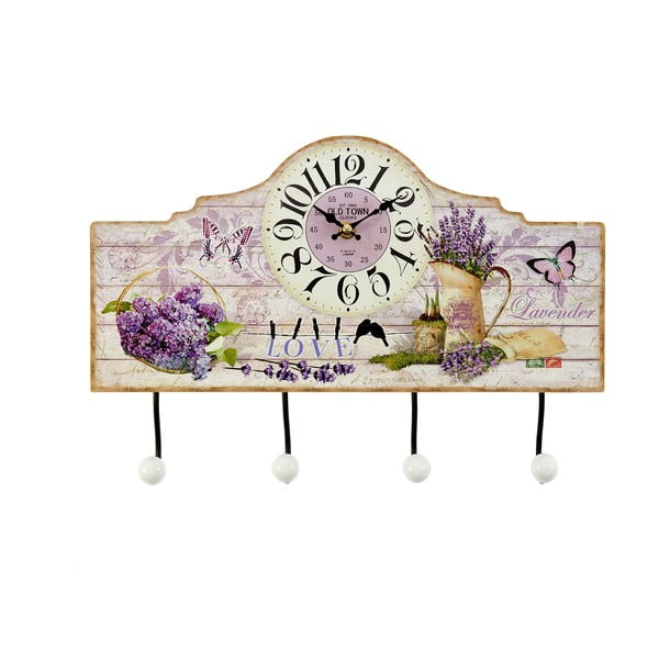 Dřevěný věšák Lavender, 39x26 cm
