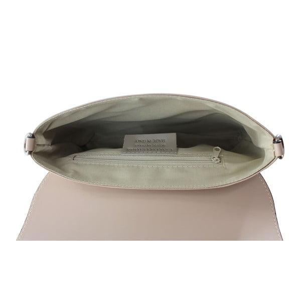 Pudrová kožená kabelka Chicca Borse Penny
