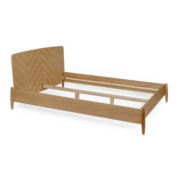 Dvoulůžková postel Woodman Farsta Herringbone, 140 x 200 cm