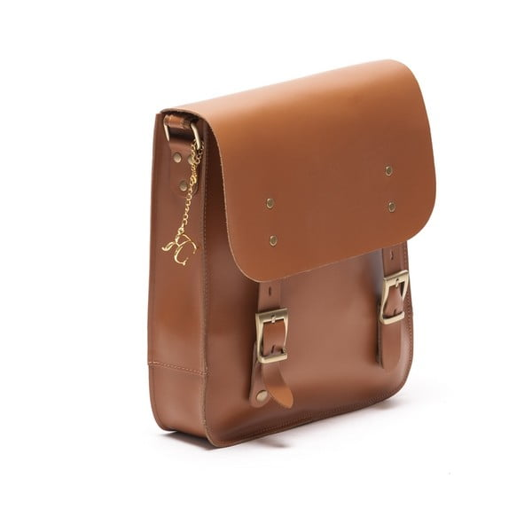 Kožená kabelka Renata Corsi 399, koňak