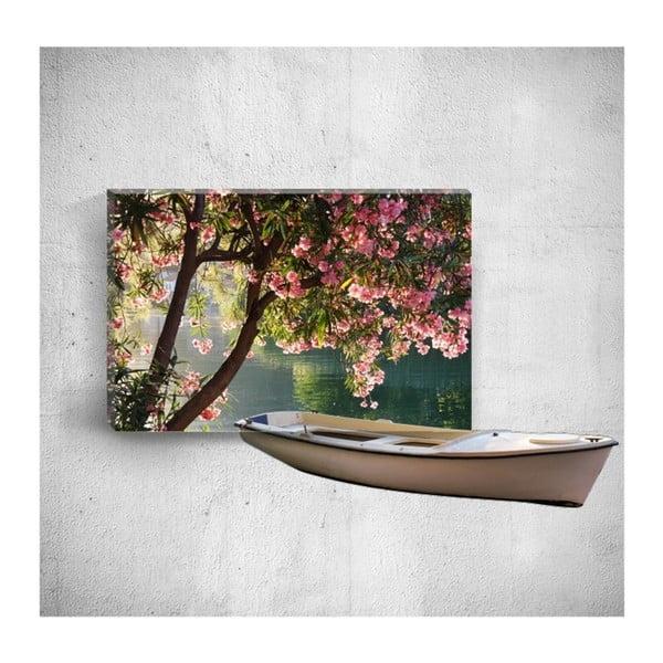 Boat On River 3D fali kép, 40 x 60 cm - Mosticx