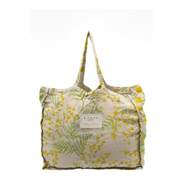 Geantă textilă Linen Couture Mimosa, lățime 50 cm