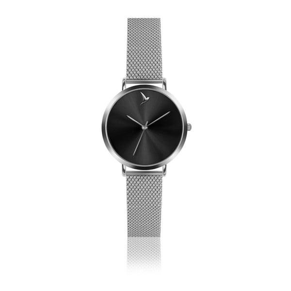 Ceas damă cu curea din oțel inoxidabil Emily Westwood Black, argintiu
