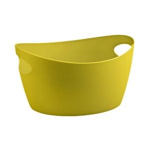 Žlutá plastová úložná nádoba Koziol Bottichelli, 4,5l