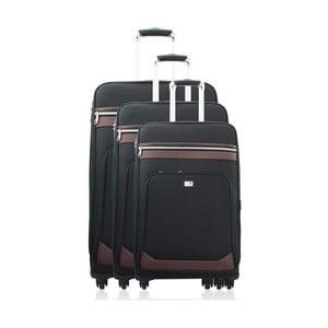 Sada 3 cestovních zavazadel Valises Avec Poly Black