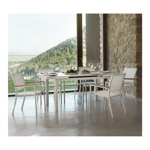 Bílý rozkládací jídelní stůl Geese Pate, délka140x180cm