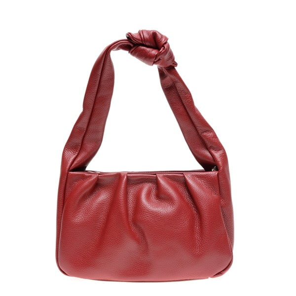 Červená kožená kabelka Carla Ferreri