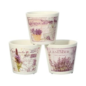 Sada 3 květináčů Ixia Lavender