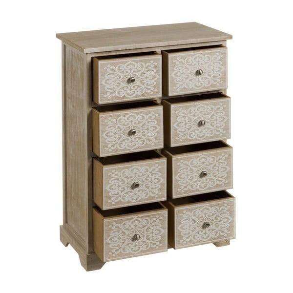Komoda z 8 szufladami z drewna paulownia Unimasa Mandala, wys. 76 cm