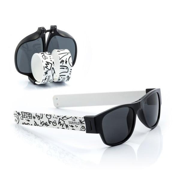 Černo-bílé sluneční srolovatelné brýle InnovaGoods Sunfold ST2