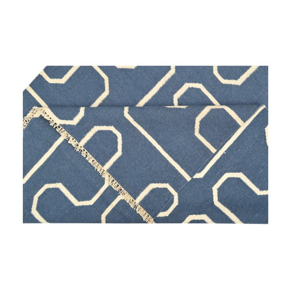 Ručně tkaný koberec Blue H Kilim, 150x208 cm