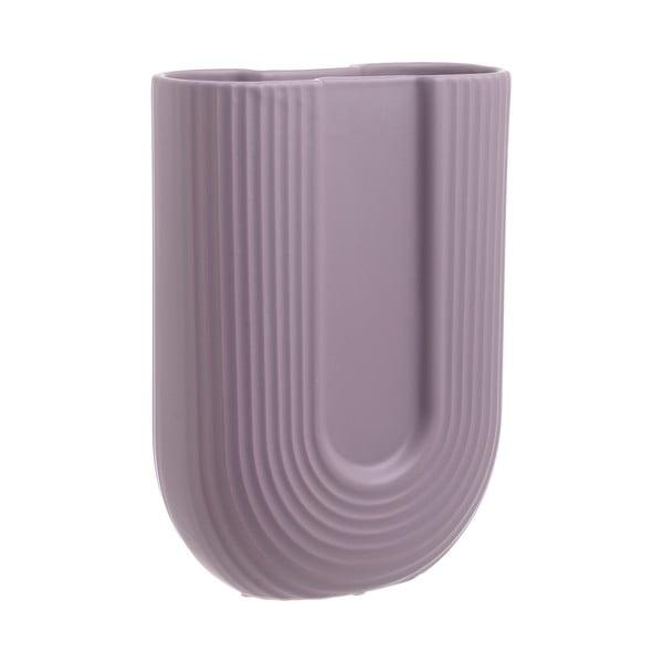 Fialová keramická váza InArt Elegant, výška24cm