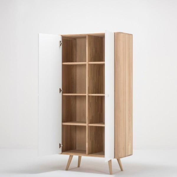 Šatní skříň s konstrukcí z masivního dubového dřeva Gazzda Ena, výška170cm