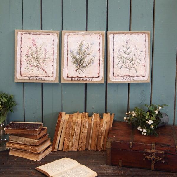 Nástěnná dekorace Herbs, 3 ks