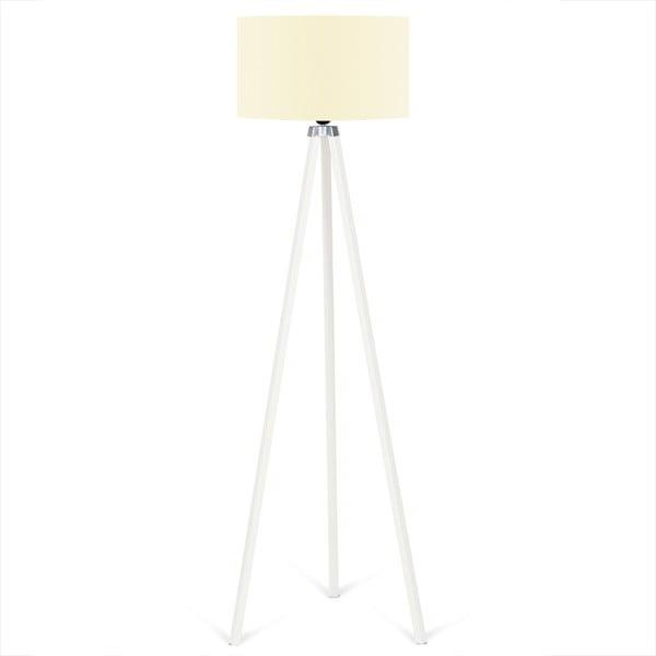 Lampadar Kate Louise Beyaz, galben-alb