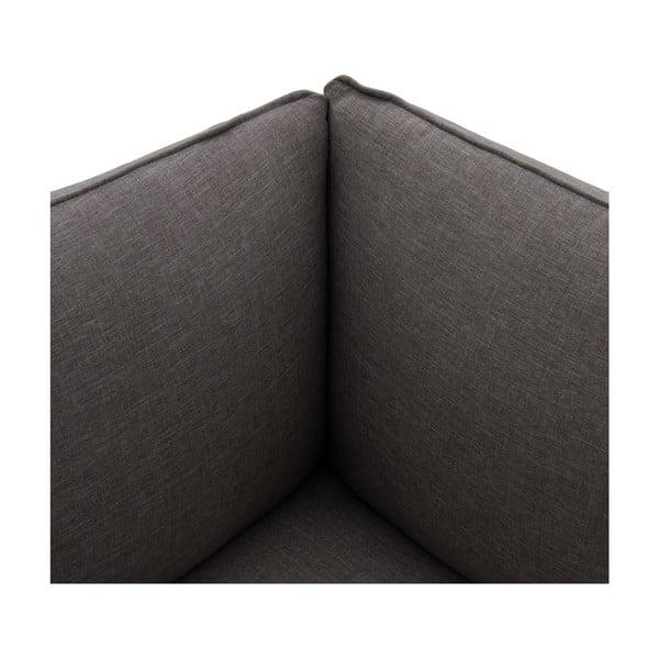 Tmavě šedé křeslo Vivonita Cube, levá strana