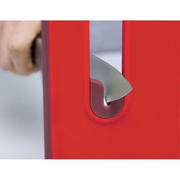Prkénko s integrovaným brouskem Slice&Sharpen, velké červené