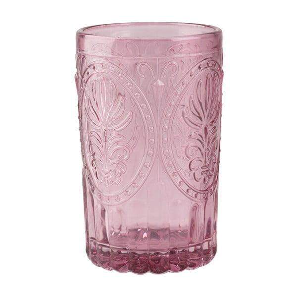 Růžová sklenice Creative Tops Festival Folk, 350 ml