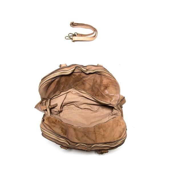 Kožená kabelka Anna Luchini  6 Fango