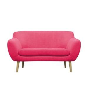 Růžová dvoumístná pohovka se světlými nohami Mazzini Sofas Sardaigne