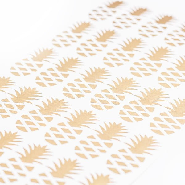 Samolepky na zeď Ananas Gold, 36 ks
