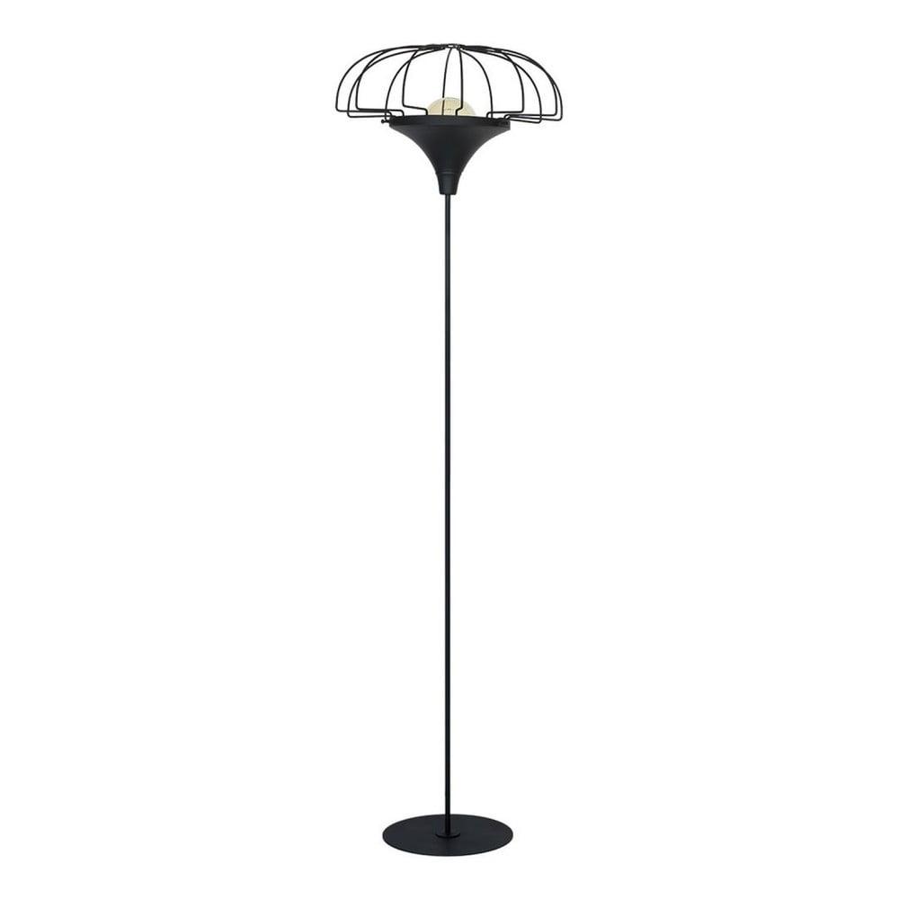 Černá volně stojící lampa Perseus Pargo