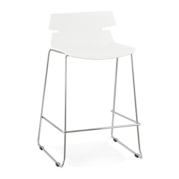 Biela barová stolička Kokoon Reny, výška 64 cm
