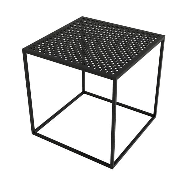 Černý konferenční stolek take me HOME Motivo, 42x42cm