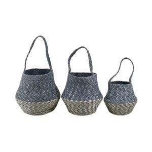 Sada 3 úložných košíků z juty Moycor Bell Basket