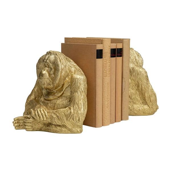 Sada dvou zlatých zarážek na knihy Kare Design Ornag Utan