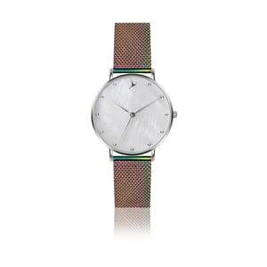 Dámské hodinky s páskem z nerezové oceli v duhové barvě Emily Westwood Dots