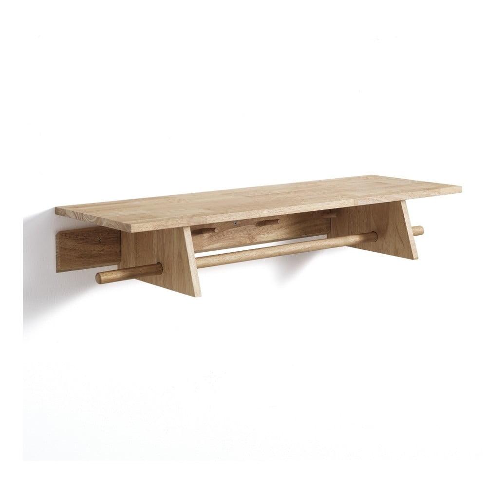 Nástěnný dřevěný věšák Tomasucci Rustico, 90x30x15,5cm