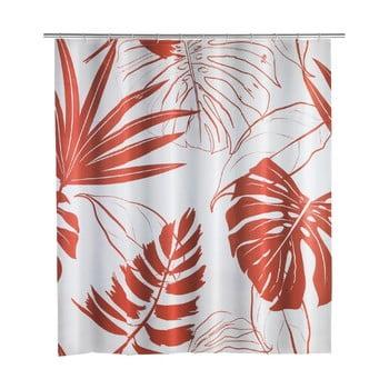 Perdea de duș Wenko Red Monstera, 180 x 200 cm imagine
