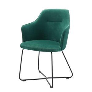 Tmavě zelená židle s područkami Wewood - Portuguese Joinery Sartor