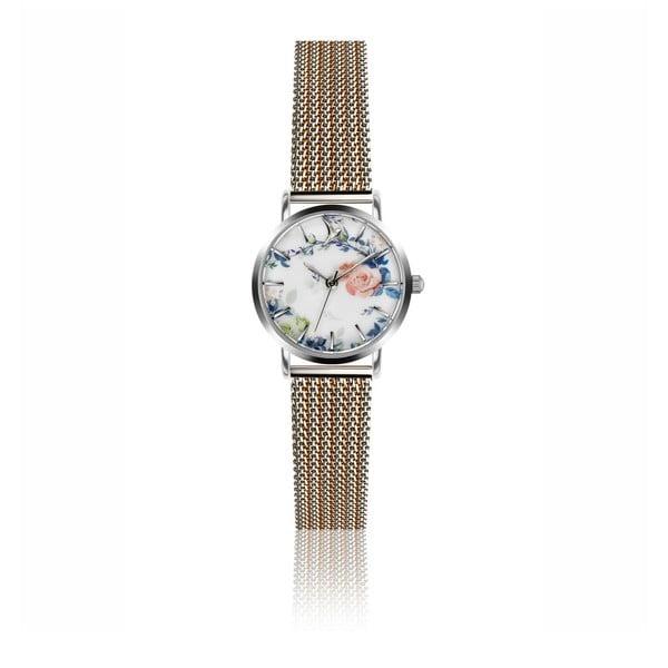 Dámske hodinky s antikoro remienkom v striebornej farbe Emily Westwood Rosa