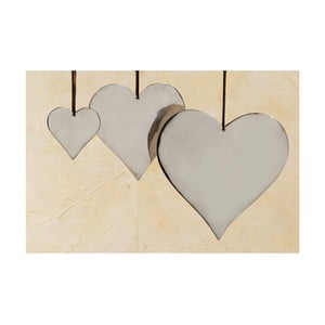 Set 3 inimi decorative suspendate Boltze Heart Plain