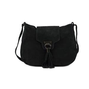 Černá kabelka z nubukové kůže Infinitif Pexine