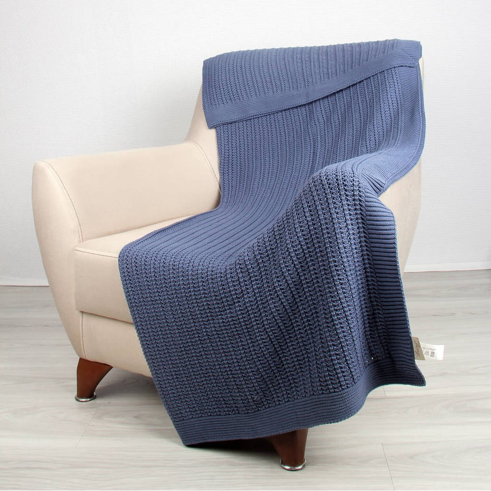 Modrá bavlněná deka Clen