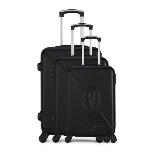 Sada 3 černých cestovních kufrů na kolečkách VERTIGO Cadenas Integre Moues