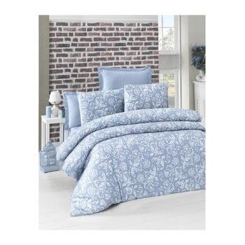 Lenjerie de pat din bumbac satinat Verano, 140 x 200 cm, albastru de la Victoria