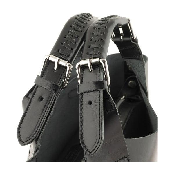 Kožená kabelka Everyday Italia, černá