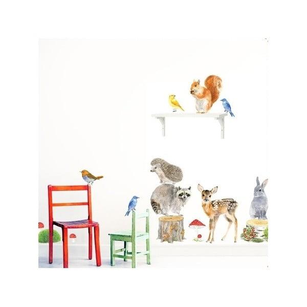 Znovu snímatelná samolepka Woodland Animals