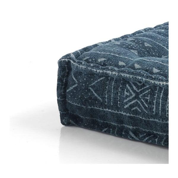 Tmavě modrý puf Oreste Luchetta Yantra, 80x80cm
