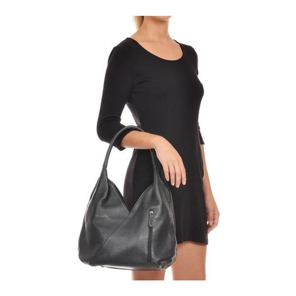 Černá kožená kabelka Roberta M Alcee