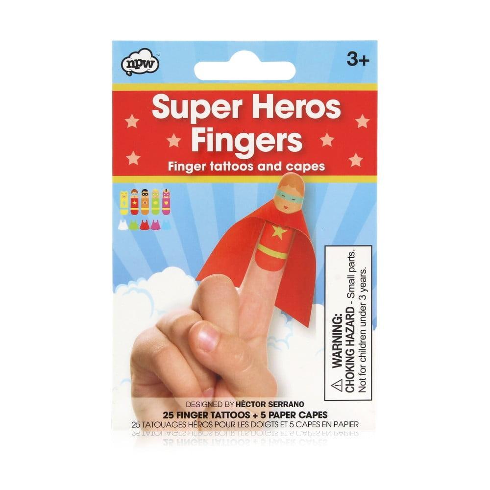 Sada tetování na prsty npw™ Superhero