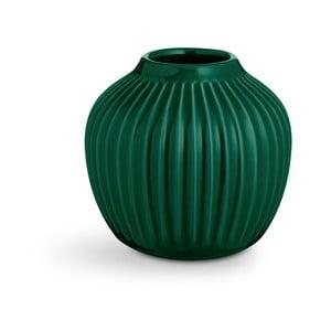 Zelená kameninová váza Kähler Design Hammershoi,výška 12,5 cm