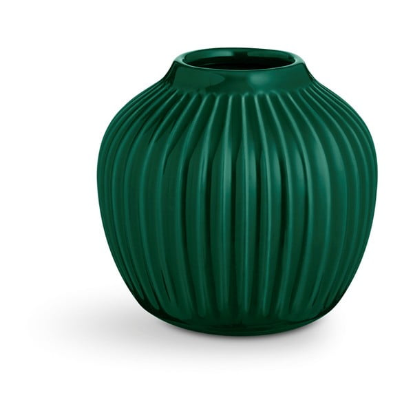 Hammershoi zöld agyagkerámia váza, magasság 12,5 cm - Kähler Design